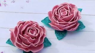 Роза из фоамирана , мк/Foamirana Rose