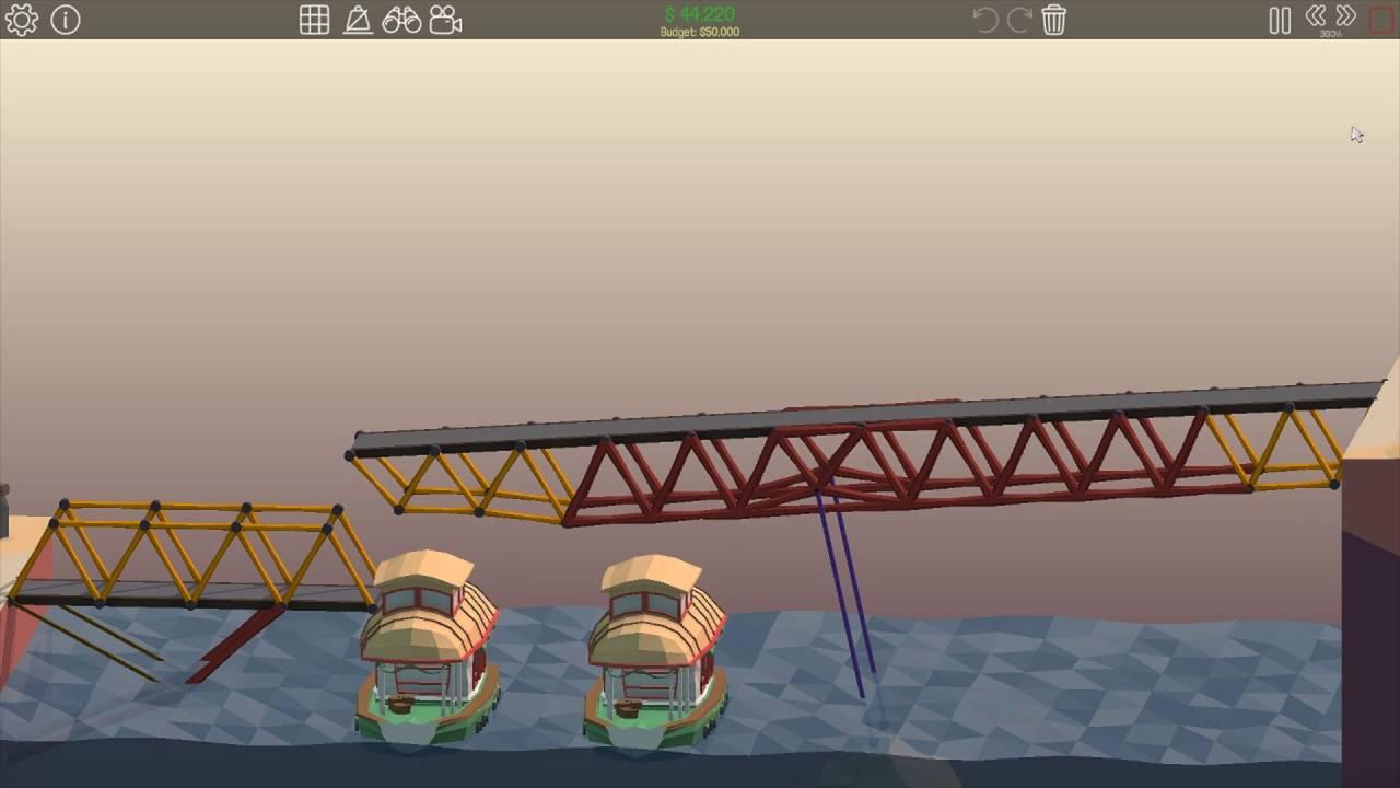 poly bridge 3 solutions sloped drawbridge 2 9 youtube. Black Bedroom Furniture Sets. Home Design Ideas