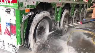 Begini lahh!!! Cara Mencuci Truck Di Eropa Dengan Cepat
