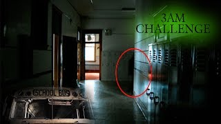 DO NOT SNEAK INTO SCHOOL AT 3AM // 3 AM CHALLENGE SNEAKING INTO HAUNTED SCHOOL GONE WRONG