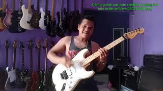 Europe - The final countdown guitar cover and demo guitar fender richie sambora replika by Sang Adi