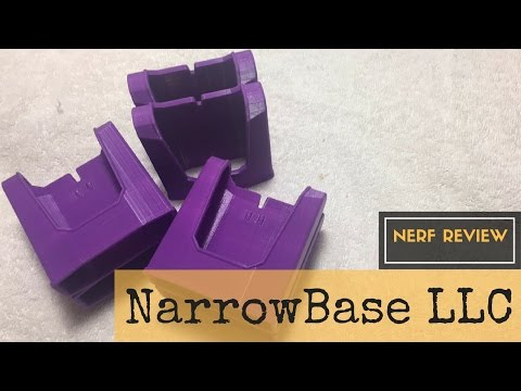 Nerf Review: NarrowBase LLC Double Magazine Holder - 3D Printed