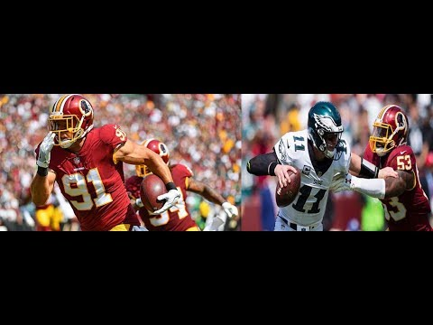 Ryan Kerrigan & Zach Brown vs Eagles (NFL Week 1) - Strong Debut! | 2017-18 NFL Highlights HD