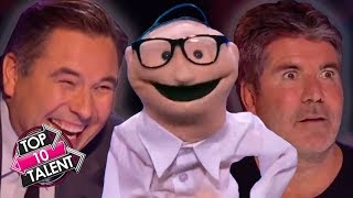 TOP 10 UNFORGETTABLE Puppet Auditions On Got Talent!