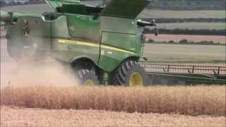John Deere S690I Hillmaster combine,Harvest 2013.wvm