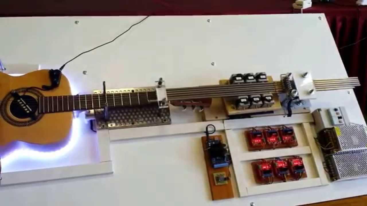 Robot guitar arduino aria sulla quarta corda italian