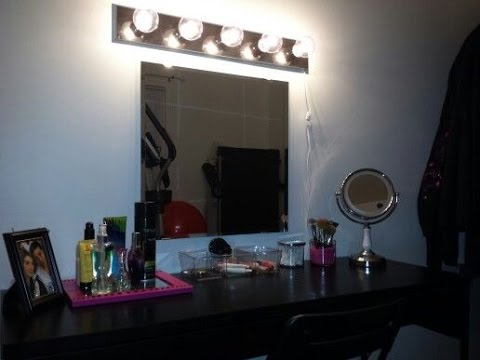 Makeup Vanity With Lights Ikea Youtube