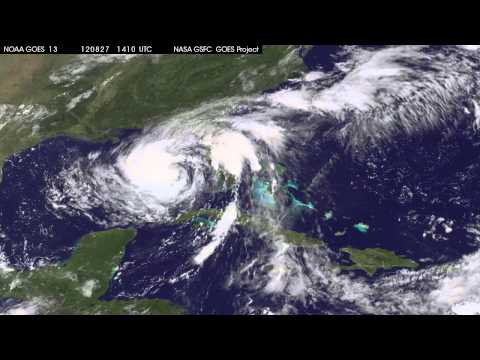 Satellite Sees Tropical Storm Isaac Headed for Landfall on U.S. Gulf Coast