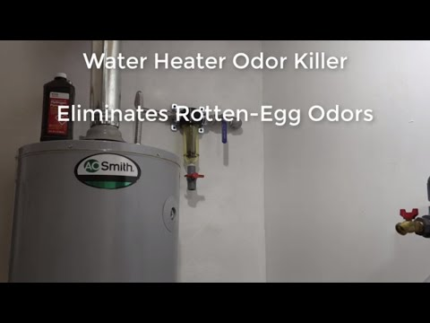 Water Heater Odor Killer Eliminates Rotten-Egg Odors In Your Water Heater