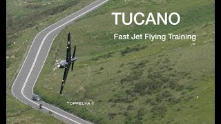 Flying through Mountains Low Level Fly Past Tucano Mach Loop Wales 2018