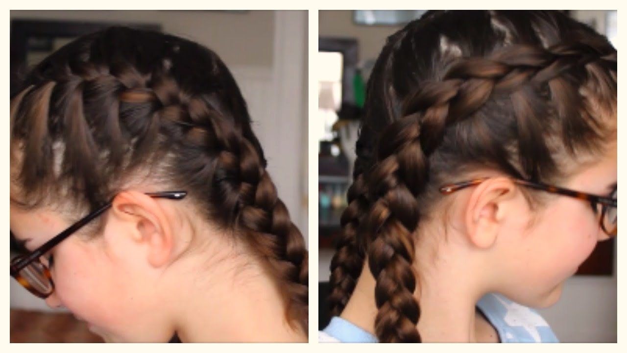 How To French Braid Hair Pigtails Step By