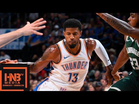 Oklahoma City Thunder vs Milwaukee Bucks Full Game Highlights | 10.09.2018, NBA Preseason