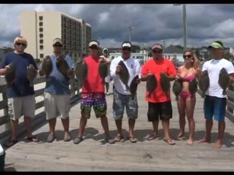 Surfside Beach, S.C. Pier Fishing For Flounder