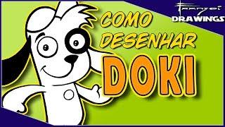 Como desenhar o DOKI (Turma do Doki) - Passo a passo - #68