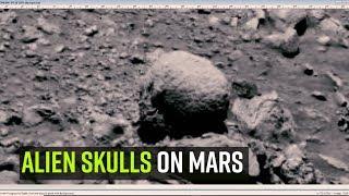 Space journalist spots alien skulls on Mars, just hours before NASA press meet