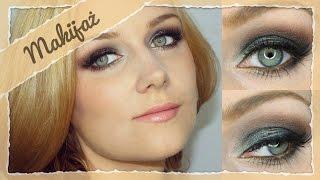 Makijaż sylwestrowy - przydymione oko z pigmentem Blue Brown