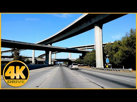 Driving Tour of I-710 Freeway, Los Angeles (Long Beach to Monterey Park) [4K]