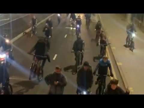 Hundreds of cyclists join 'Ride & Rave' in Liverpool