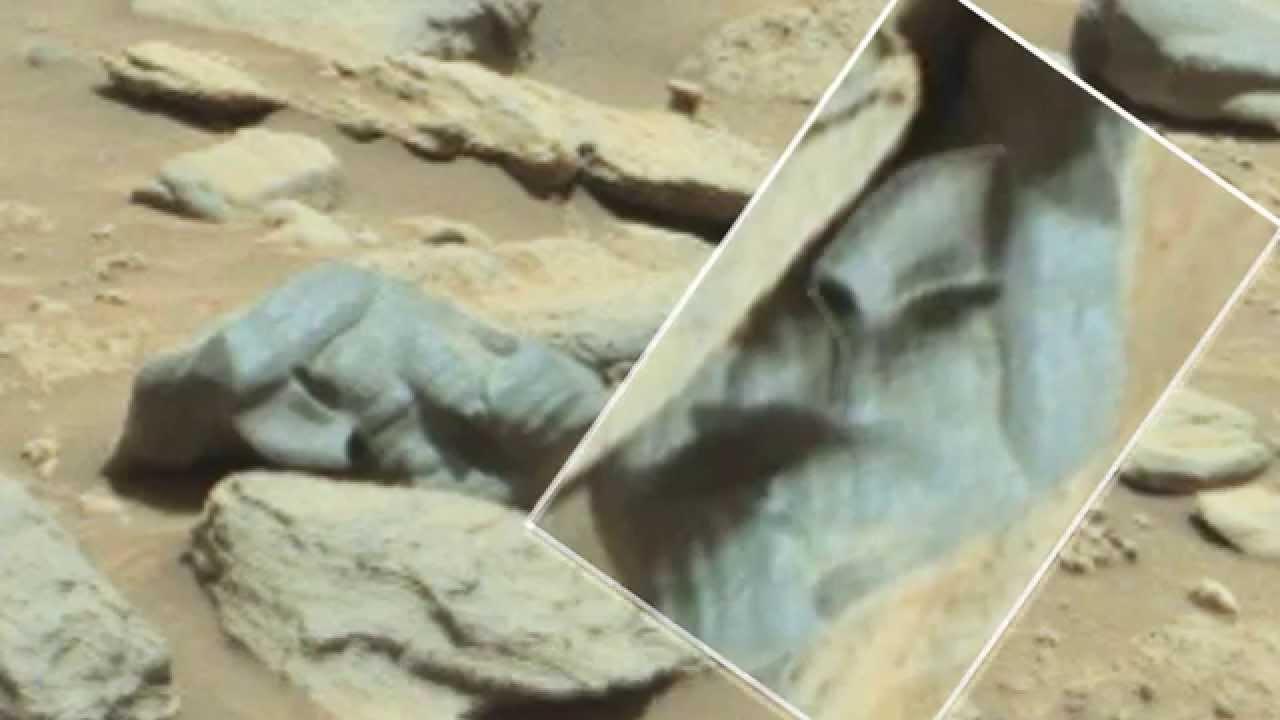Mars Curiosity Rover Finds Alien Skull Embedded in Stone ...