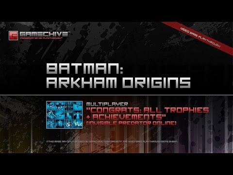 Batman: Arkham Origins (PS3) Gamechive (Multiplayer: All Achievements & Trophies)