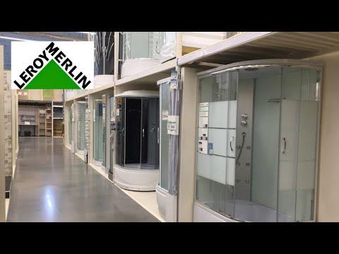 Большой обзор ванн и душевых кабин в Леруа Мерлен