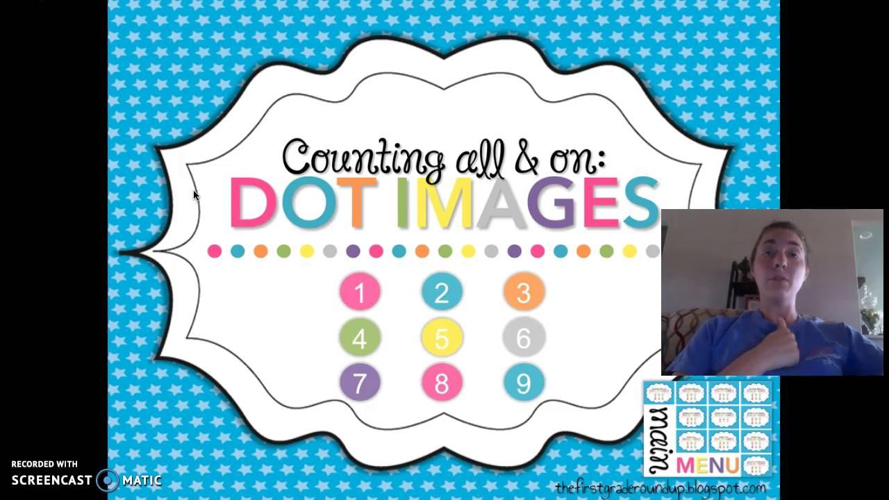 Number Talks, 1st Grade: Dot Images
