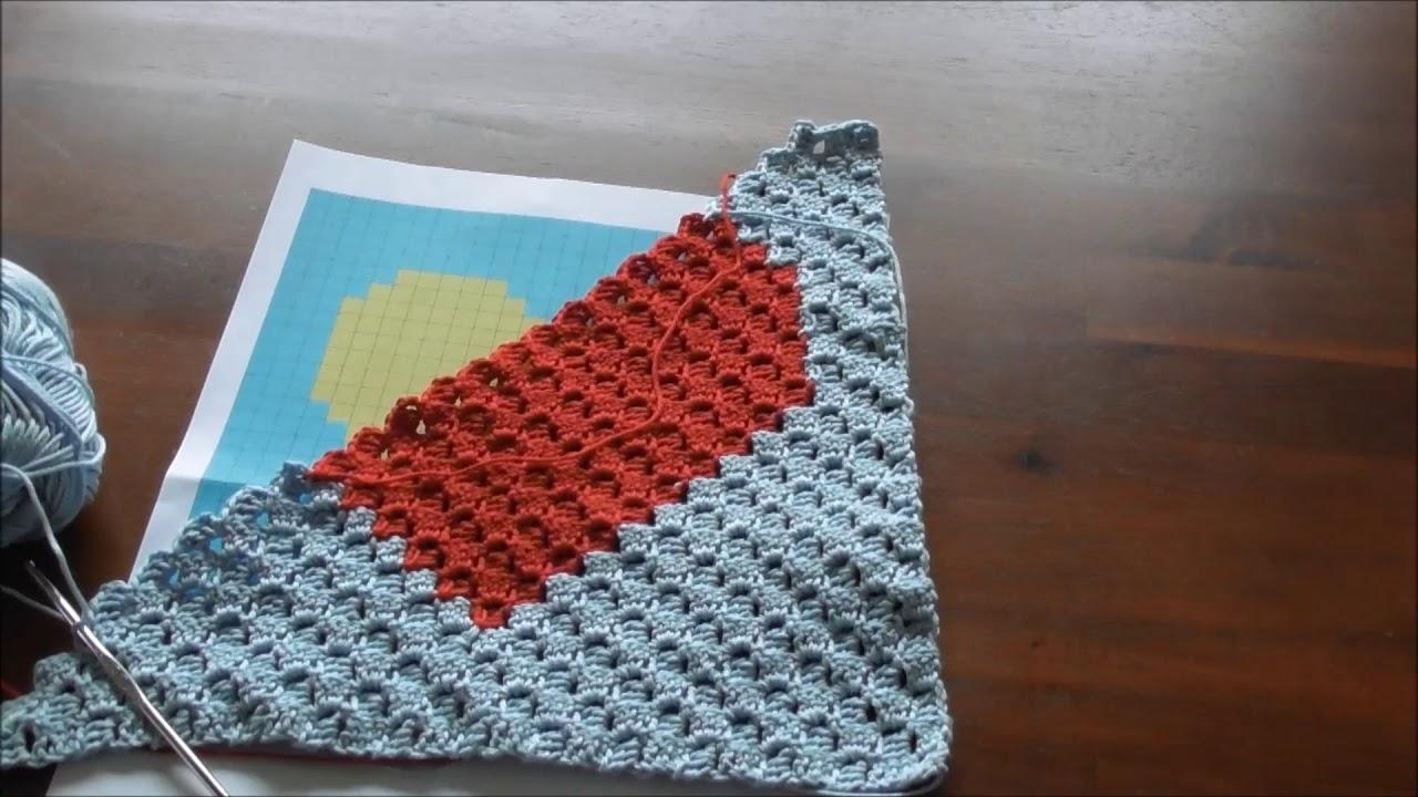C2c Häkeln Corner To Corner Crochet Motivdecke Häkeln Part 4