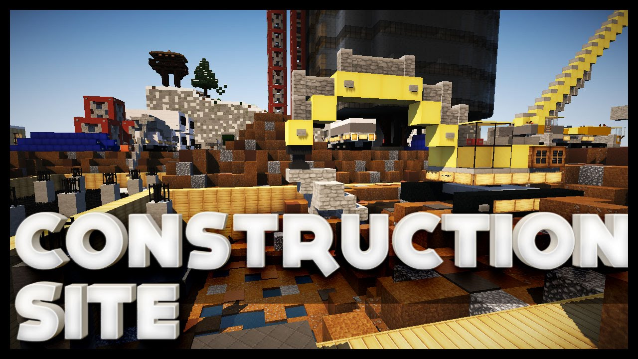 Minecraft construction site youtube for Site in construction