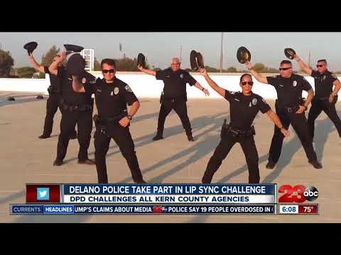 Delano Police rock lip sync challenge