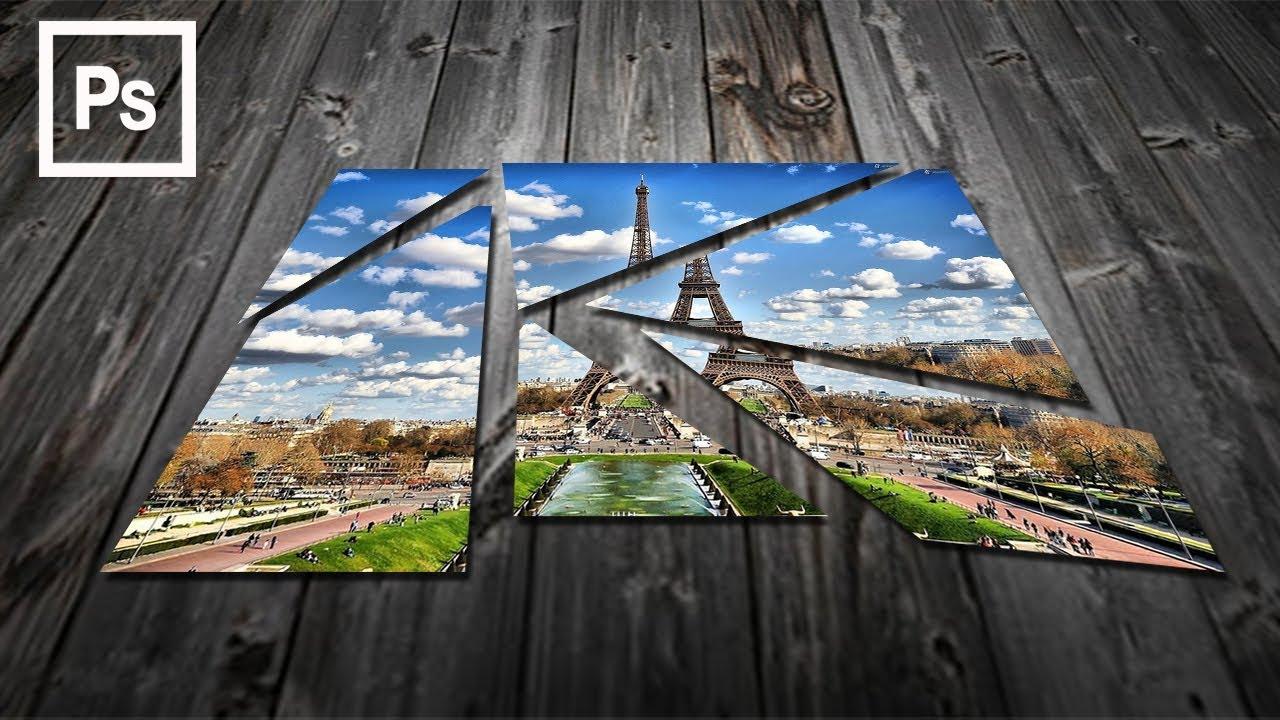 Cara edit Foto dengan efek kaca pecah di Photoshop - YouTube