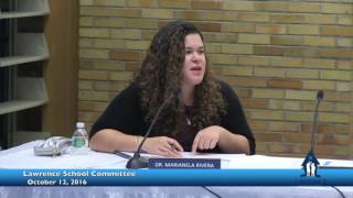 School Committee October 12, 2016