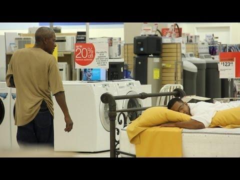 BedTime Customers Prank - Indecent Exposure Episode 2