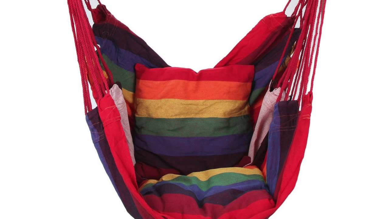 Review Of Swing Hanging Hammock Chair With Two Cushions