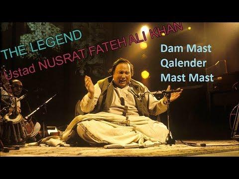Dam Mast Qalander mast mast with lyricsNusrat Fateh Ali khan