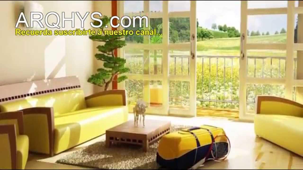 Cmo decorar la sala con el color amarillo Decoracin