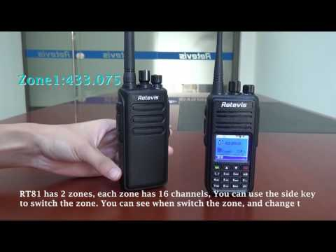 Retevis RT81 DMR Digital/Analog UHF 10W IP67 Radio