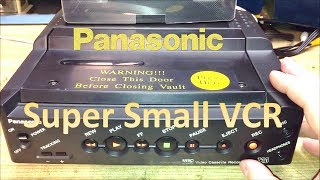 Vintage Compact Panasonic VHS Hi-Fi VCR For Police Cars