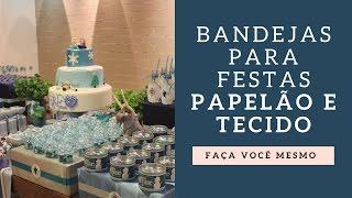 DIY - Bandejas para festas - Festa infantil - decoração - frozen