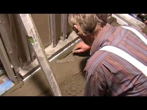 støbning af betongulv i badeværelse