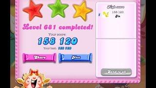 Candy Crush Saga Level 681   ★★★   NO BOOSTER