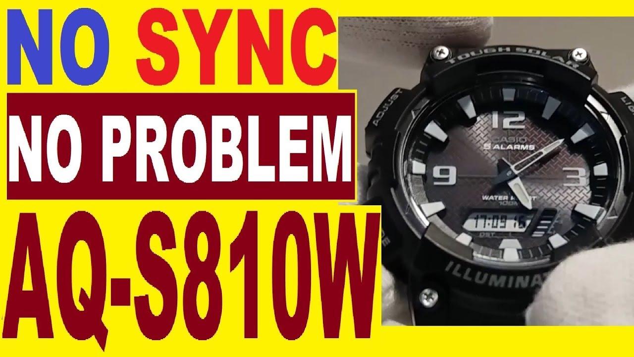 casio aq s810w manual 5208 for calibration analog time if not sync rh youtube com Casio Illuminator Watch Casio Tough Solar