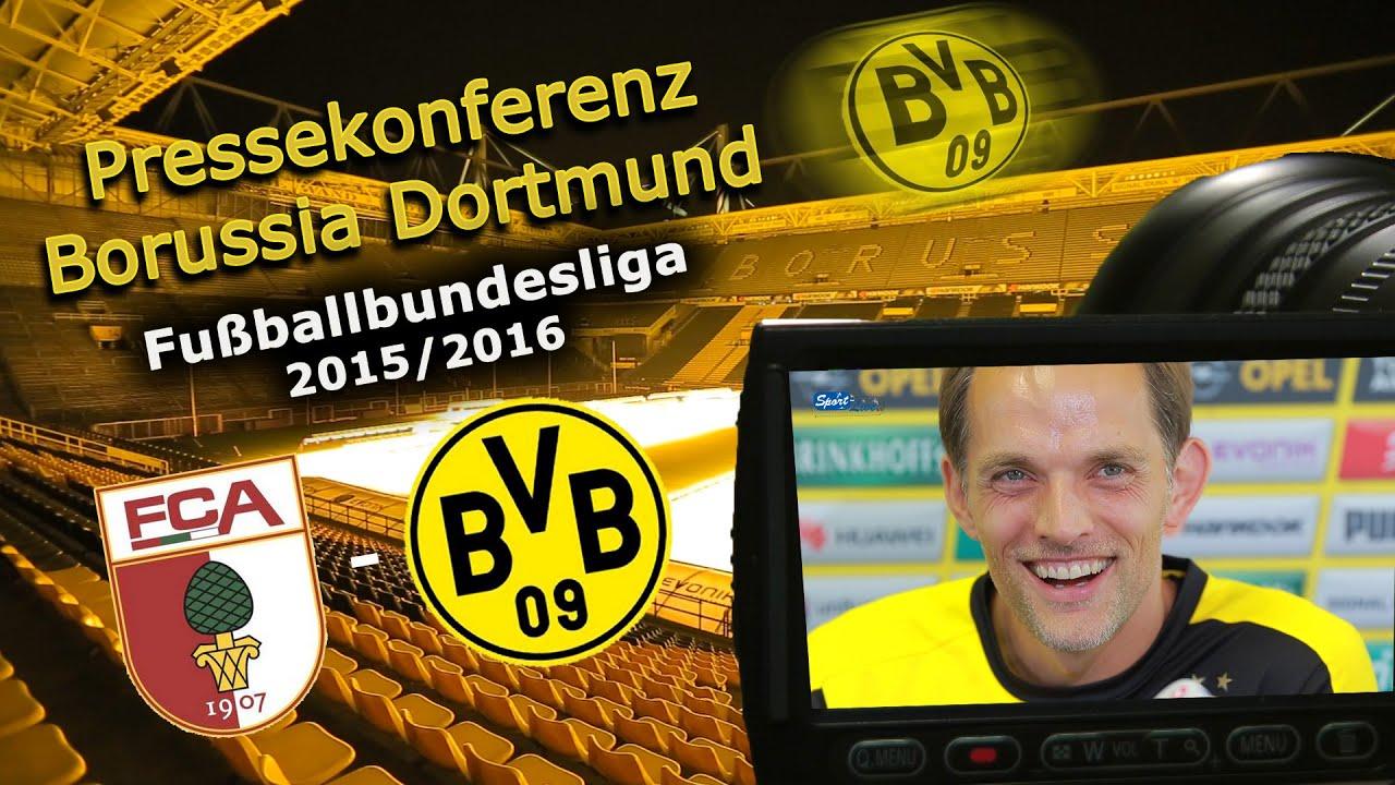 FC Augsburg - Borussia Dortmund:  Pk mit Thomas Tuchel