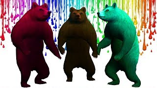 Learn Colors with Bear Animals Finger Family Songs for Kids || Nursery Rhymes for Children's Kids