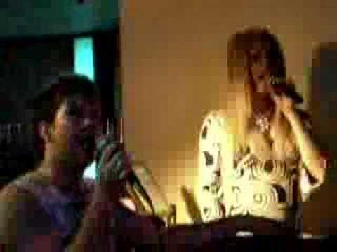 Destiny dyson and james singingon karaoke