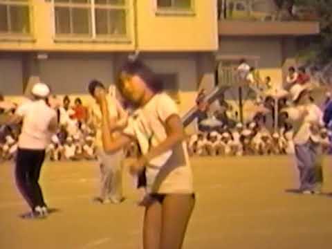 古前小学校運動会女子その1 1979