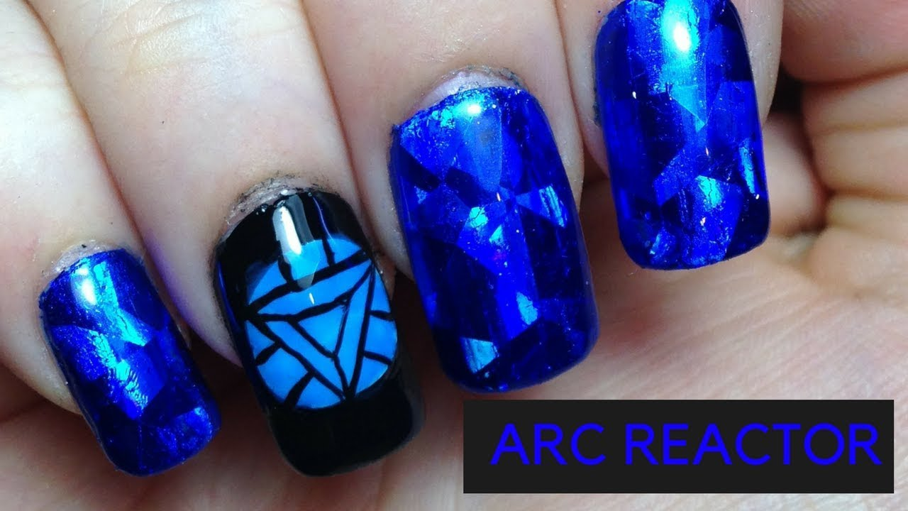 Arc Reactor Nails | Iron Man Nails | #MARVELMANIMONTH - YouTube