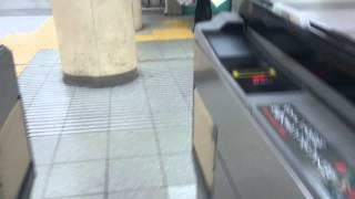 阪急電車 神戸三ノ宮駅の自動改札機を通過する風景   the automatic ticket gate of Hankyu train Kobe Sannomiya Station