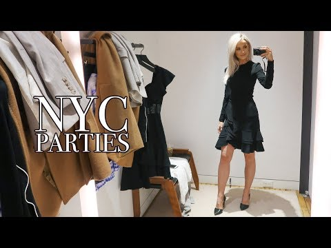 SHOPPING FOR FASHION WEEK PARTY DRESSES IN NEW YORK   NYFW   VLOG 81