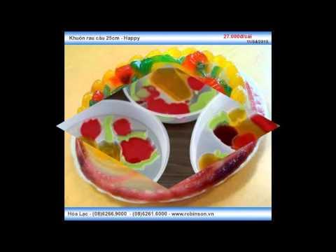 Khuôn nhựa làm rau câu – Happy 25cm
