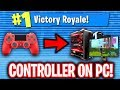 USING PS4 CONTROLLER ON PC FORTNITE! (NO MOUSE AND KEYBOARD)